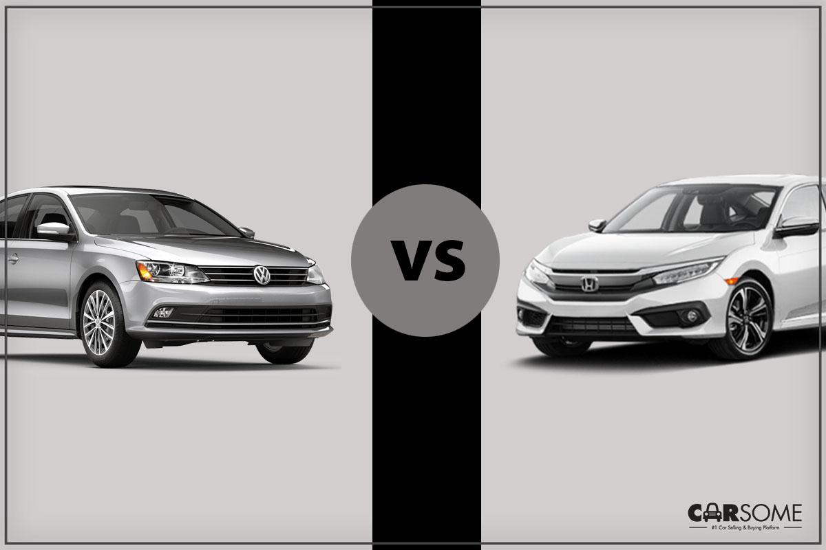 Head To Head Honda Civic Vs Volkswagen Jetta Carsome Malaysia
