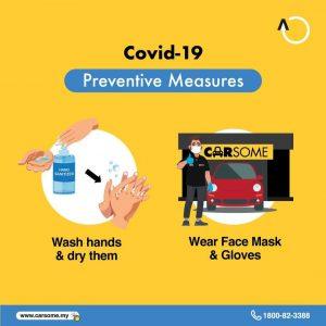 basuh tangan dan sentiasa pakai pelitup muka