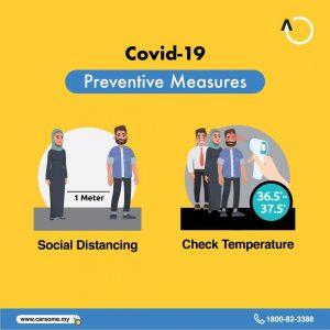 Perintah Kawalan Pergerakan Bersyarat: Jaga jarak dan periksa suhu