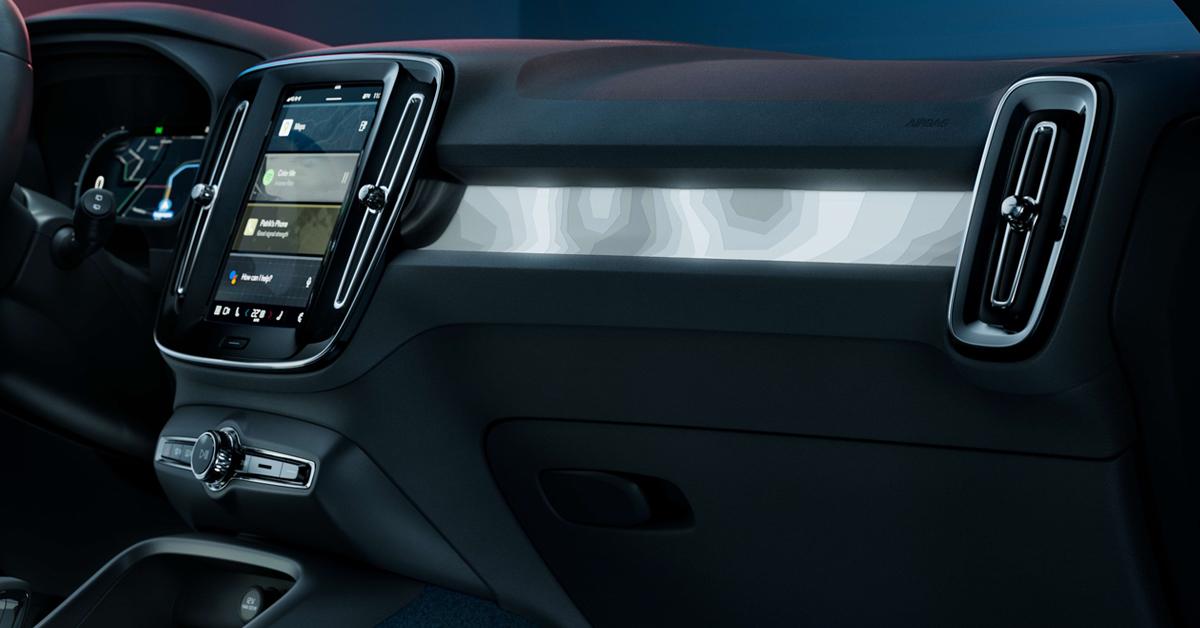 bahagian dalaman Volvo C40 Recharge