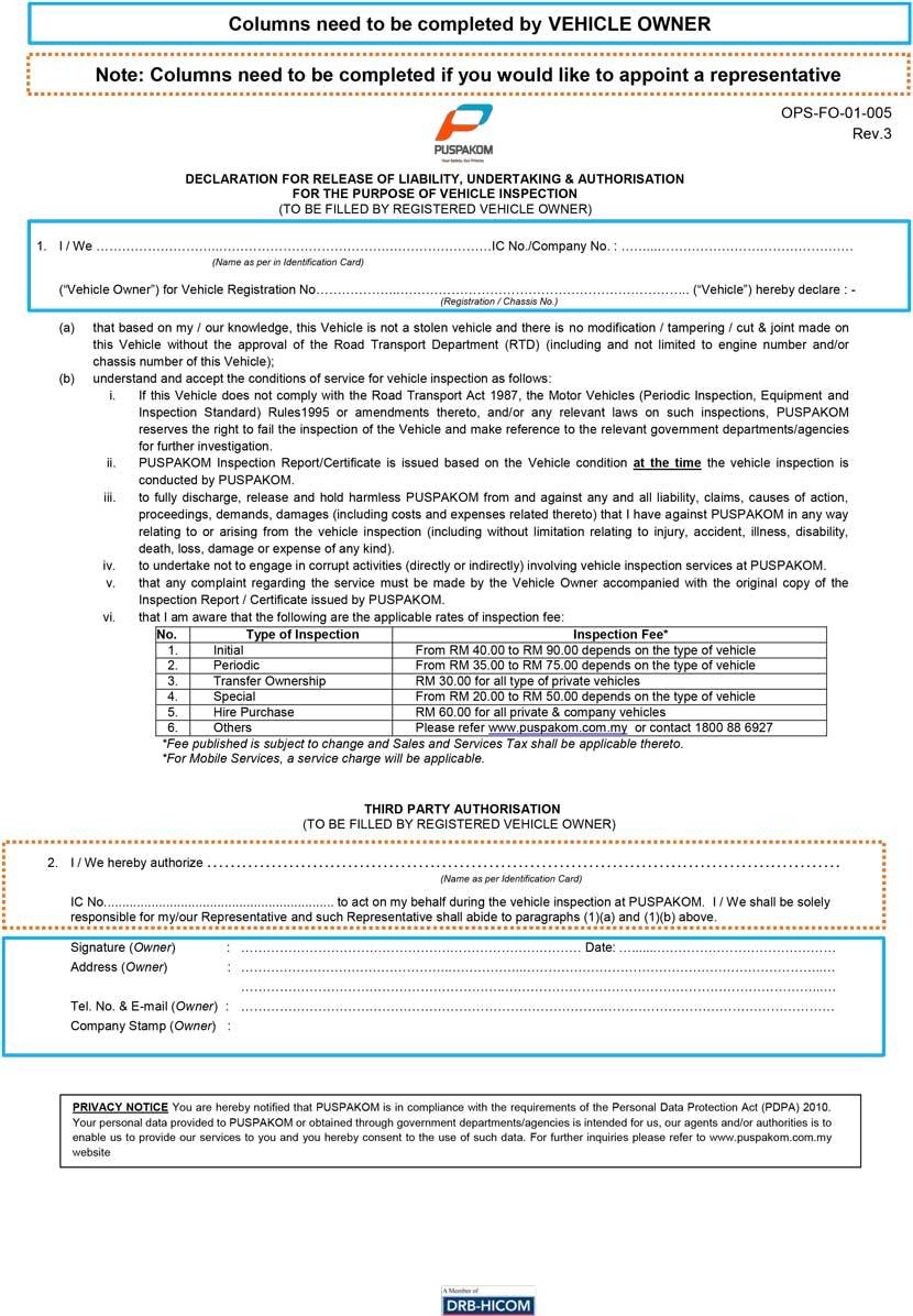 B5 Report/Laporan B5 untuk pemindahan hak milik