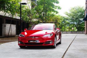 Red Tesla Model S Malaysia