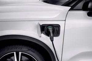 Volvo XC40 recharge port