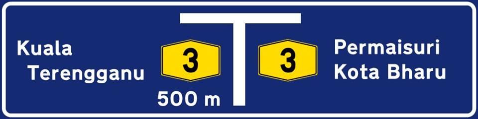 huruf putih papan tanda jalan raya
