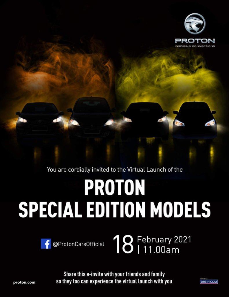 pelancaran model proton edisi khas