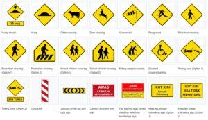 warning signboards